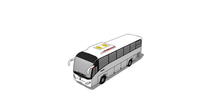 大客车大巴车精细SU模型(4)