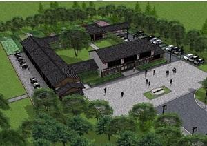 农家乐民宿建筑设计SU(草图大师)模型