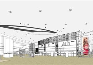 大型商场室内模型SU(草图大师)模型