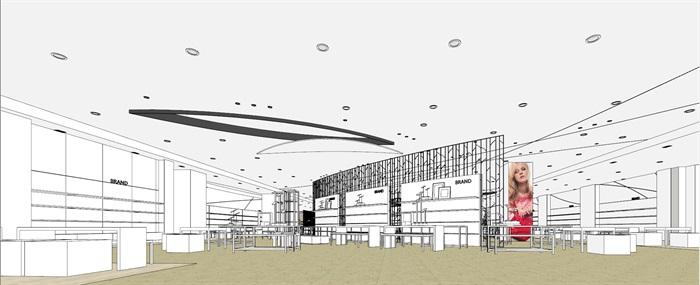商场室内模型su模型(1)