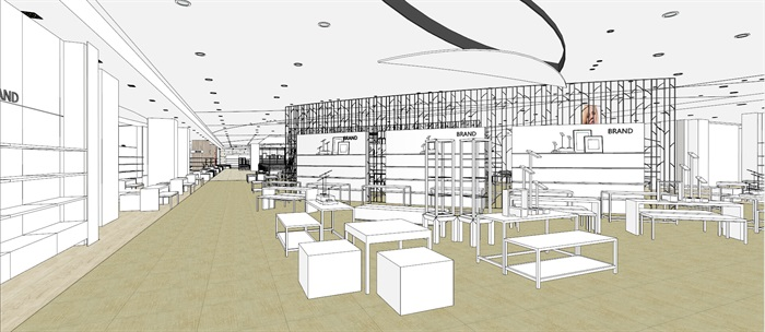 商场室内模型su模型(2)