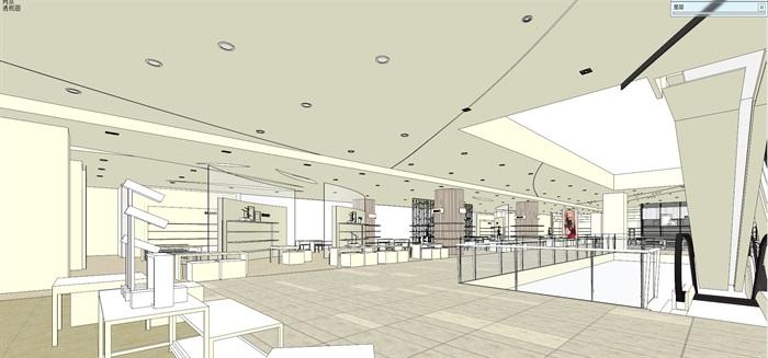 商场室内模型su模型(4)
