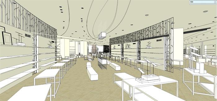 商场室内模型su模型(5)