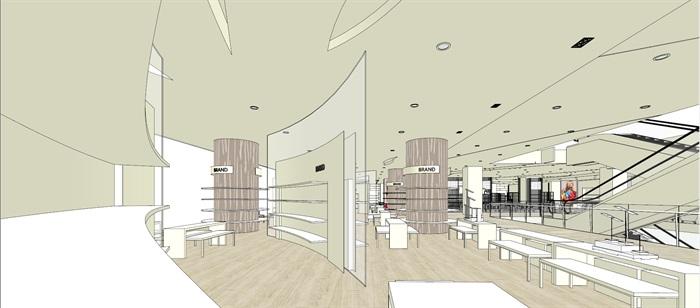 商场室内模型su模型(6)