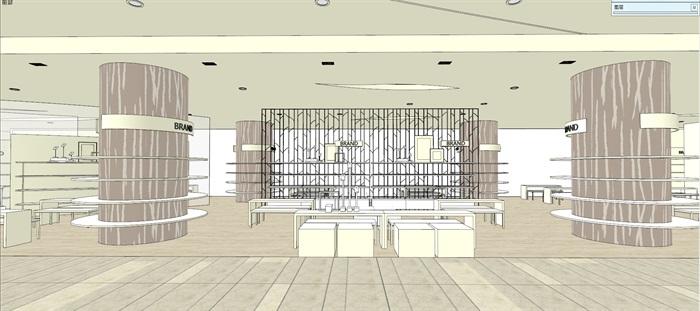 商场室内模型su模型(7)
