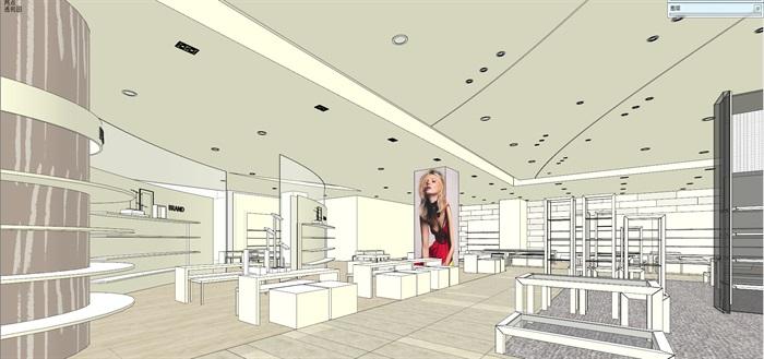 商场室内模型su模型(8)