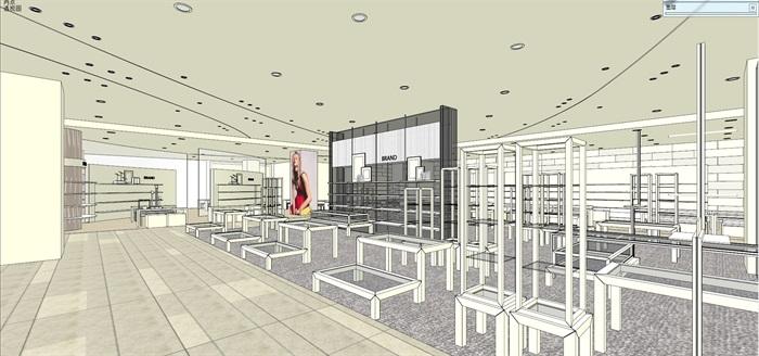 商场室内模型su模型(9)