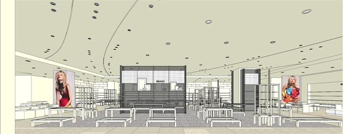商场室内模型su模型(10)
