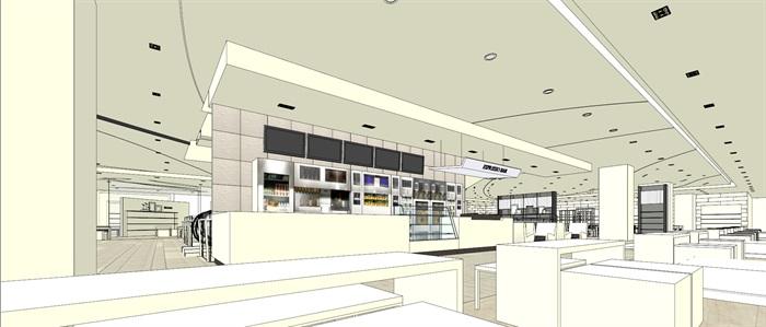 商场室内模型su模型(11)