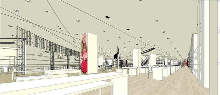 商场室内模型su模型(12)