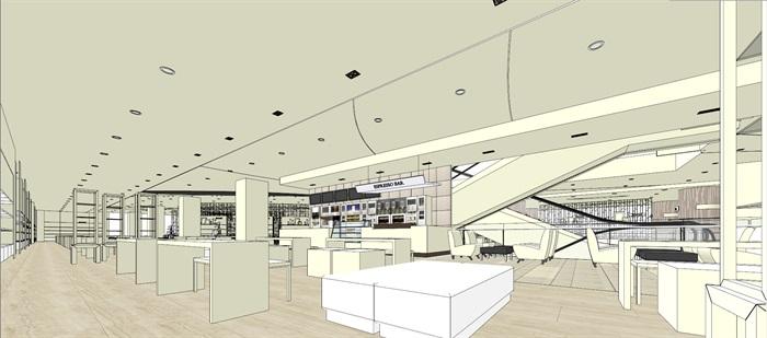 商场室内模型su模型(13)