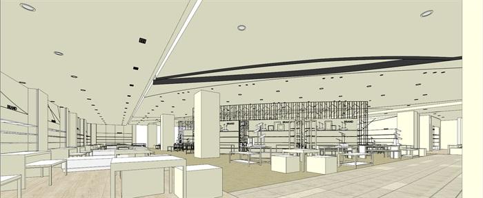商场室内模型su模型(14)