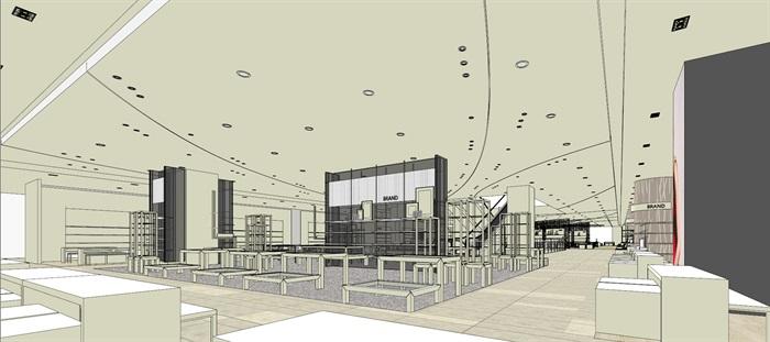 商场室内模型su模型(16)