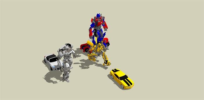 变形金刚汽车人SU模型(3)