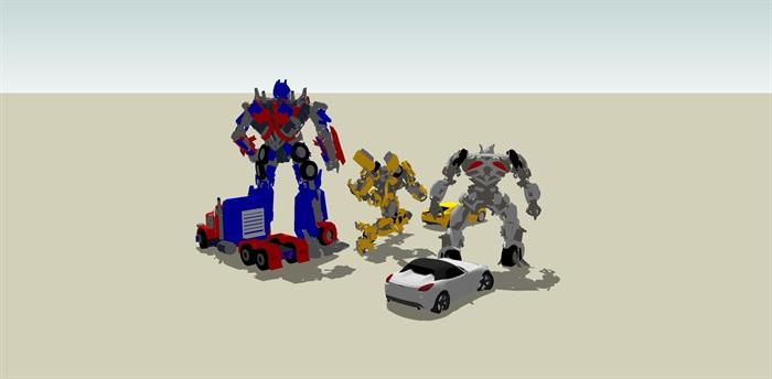 变形金刚汽车人SU模型(4)