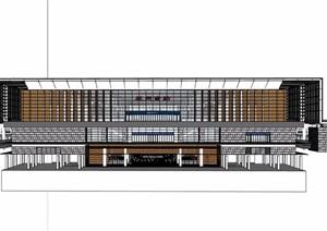 某车站详细的建筑楼设计SU(草图大师)模型