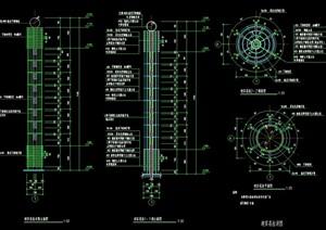 详细完整的景观柱设计cad施工图