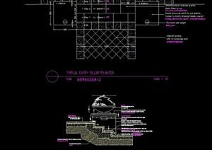 花钵素材设计cad剖面图
