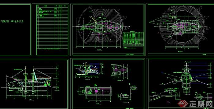 帆船游乐设施设计cad施工图