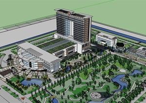 现代简约大型医院疗养院高层住院楼