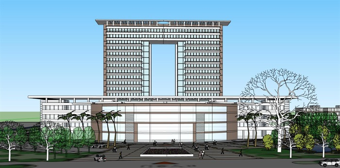 现代简约大型医院疗养院高层住院楼(3)