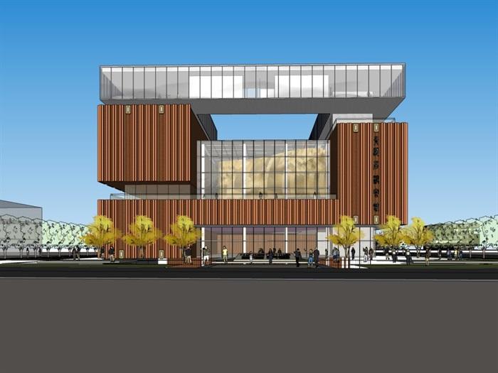 某办公楼,现代主义风格su精细霸气模型帅(1)