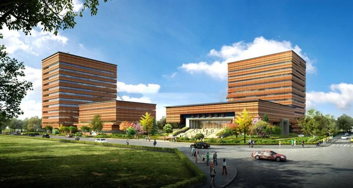 某办公楼,现代主义风格su精细霸气模型帅(3)