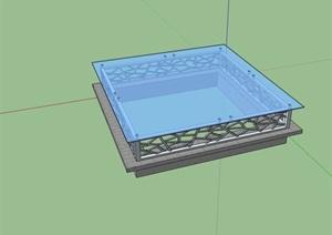 详细完整的采光井素材设计SU(草图大师)模型