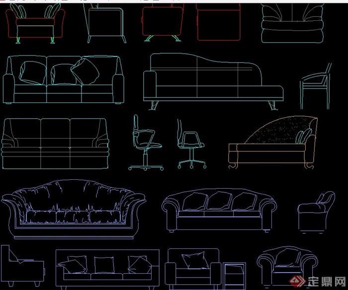 某详细的室内家具等综合cad图库