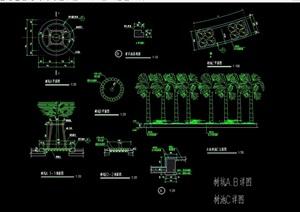 树坑种植池设计cad施工图