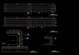 长条坐凳设计cad施工图