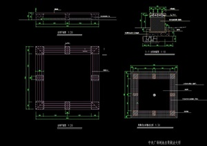 详细完整的坐凳设计cad施工图