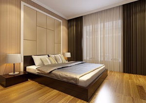 卧室详细室内设计SU(草图大师)模型