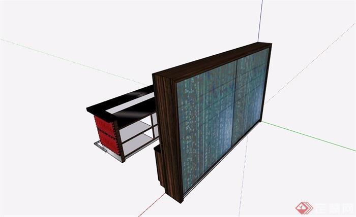 吧台素材设计su模型