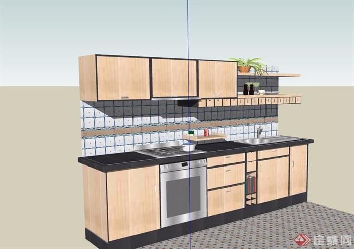 某厨房橱柜素材设计su模型