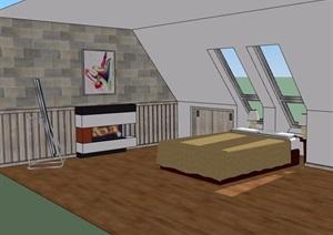 某详细的酒店室内简单设计SU(草图大师)模型