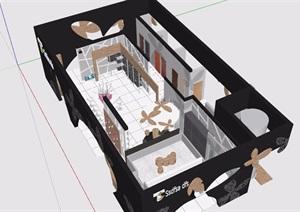 展会展厅详细设计SU(草图大师)模型