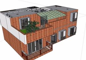 复式两层住宅室内空间SU(草图大师)模型