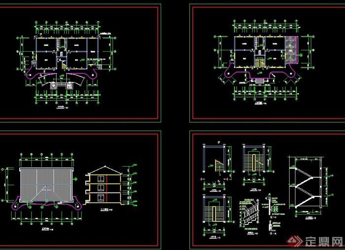 三层欧式幼儿园建筑cad施工图