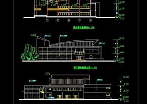 一中学食堂多层建筑设计cad方案