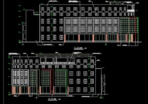 现代学校食堂建筑cad施工图