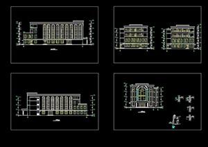 食堂全套建筑cad方案图