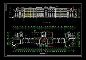 某学校建筑详细设计cad施工图
