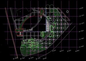 假山水池设计cad平面方案