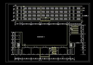 教学楼标准层平面及立面图