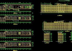 教学楼四层详细建筑设计cad施工图