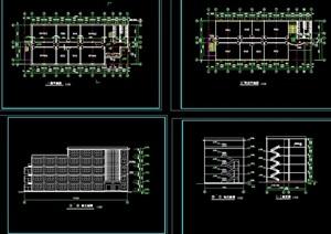 多层教学楼建筑cad方案图
