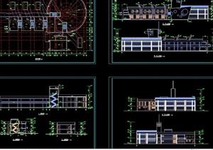 现代完整幼儿园建筑cad施工图