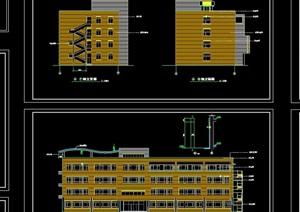现代小学教学楼建筑cad施工图