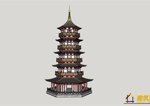 各类塔的sketchup模型
